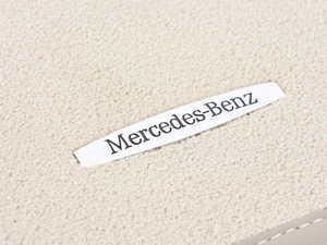 ES#3388744 - 2046802148658P90 - Carpeted Floor Mat Set - Cashmere Beige - Velour With 'Mercedes-Benz' Badge - Genuine Mercedes Benz - Mercedes Benz