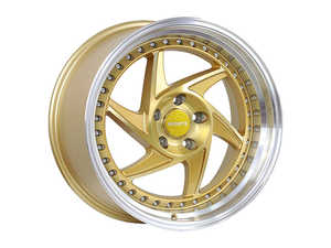 "ES#3576676 - r3418855112bg1KT - 18"" R34 Wheels - Set Of Four - 18""x8.5"" ET40 5x112 - Brushed Gold/Polished Lip - Regen5 - Audi Volkswagen"