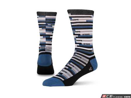 ES#3579109 - SSTRIPEbl - Safety Stripe - Blue - Ditch those crew-lengths and gold-toes and modify that sock drawer the right way. - Striipe - Audi BMW Volkswagen Mercedes Benz MINI Porsche