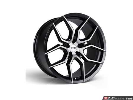 "ES#3579153 - 5060530681709KT - 20"" Style 0.50 Flow Formed Wheels - Set Of Four - 20""x10.5"", 5x112, ET19 - Matte Black With Brushed Face - 3SDM - Audi"