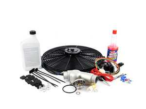 ES#2855348 - e36fndkt6KT7 - Electric Fan Conversion Kit  - Free up some extra horsepower by replacing your fan with a Mishimoto e-fan - Assembled By ECS - BMW