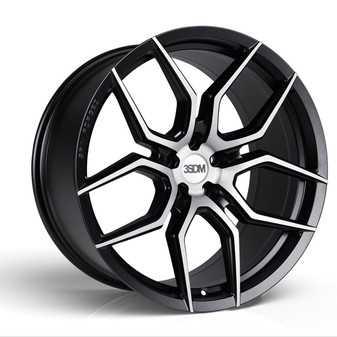 "ES#3579559 - 5060530681792KT - 20"" Style 0.50 Flow Formed Wheels - Set Of Two - 20""x9.0"", 5x130, ET45 - Matte Black With Brushed Face - 3SDM - Porsche"