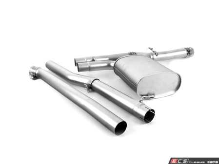 ES#3476858 - 756715-397 - Cat-back system consisting of: 70 mm stainless steel front silencer replacement tube, 1 stainless steel connection tube and stainless steel sport exhaust (without tail pipes) with integrated valve - Remus -