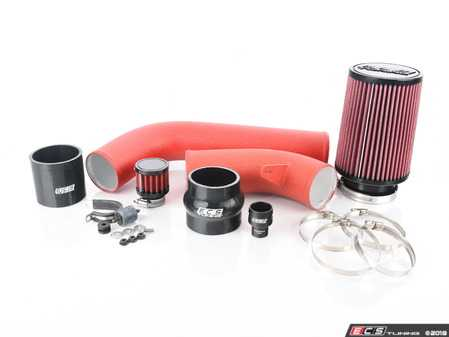 ES#2804334 - 000593ECS0103AKT - Luft-Technik Intake System - Wrinkle Red - Engineered for extreme performance and show quality looks! - ECS - Volkswagen
