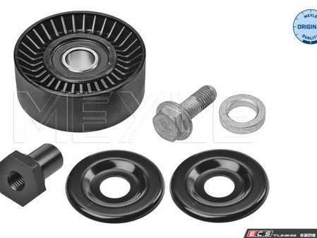 ES#3579250 - 99710211700 - Belt Tensioner Roller With Protection Cap - Priced Each - Located on the front of the engine between the alternator pulley and the upper deflection pulley - Meyle - Porsche