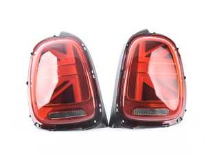 ES#3538339 - 63217435133KT - Tail Light LED Union Jack UK - Set - Upgrade to Union Jack design tail lights for your MINI, featuring Amber Flash turn signals - Genuine European Mini - MINI
