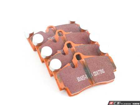 ES#2961171 - ED91474 - Extra Duty Orangestuff Rear Brake Pad Set - Great for towing or other heavy duty applications - EBC - Audi Volkswagen Porsche
