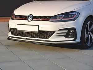 ES#3579377 - VWGO7F-GTI-FD2-G - Front Lip Spoiler V2 - Gloss Black - ABS plastic splitter that will enhance the look of your vehicle in minutes! - Maxton Design - Volkswagen