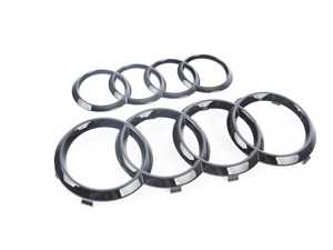 ES#3555003 - ZAW098010BDSP - Black Audi Rings Badge - Pair  - Pair of blackout Audi Rings emblems for the grille and trunk lid locations - Created with Audi enthusiasts in mind! - Genuine Volkswagen Audi - Audi