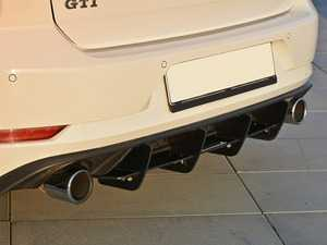 ES#3579423 - VWGO7FGTI-CNCRS1 - Rear Diffuser - Black ABS - Enhance the look of your ride with an aggressive-looking diffuser - Maxton Design - Volkswagen
