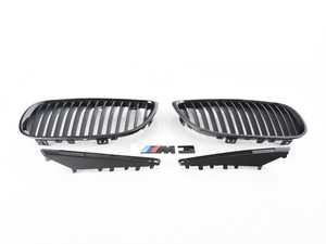 ES#3579195 - e9xm3blkKT - Black Out Kit - Gloss Black  - Adds gloss black front kidney, side vents and a black M3 badge - Assembled By ECS - BMW