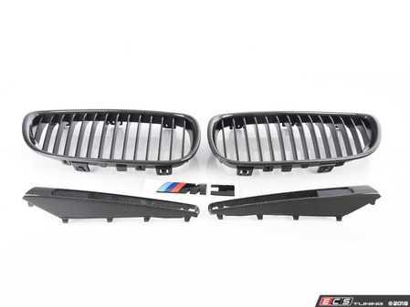 ES#3579198 - e9xm3blkKT1 - Black Out Kit - Carbon Fiber  - Adds Carbon Fiber front kidney, side vents and a black M3 badge - Assembled By ECS - BMW