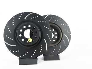 ES#2620432 - GD7612 - EBCFront Slotted & Dimpled Brake Rotors - Pair (340x30) - Upgrade to a slotted / dimpled rotor for improved braking - EBC - Audi Volkswagen