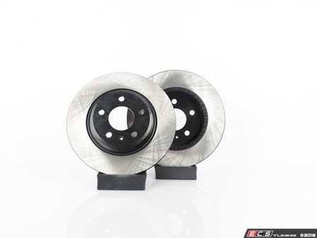 ES#3538296 - 025997ECS0636KT -  Rear V4 Brake Rotors - Pair (300x12) - Precision manufactured and featuring an electrostatic rust-inhibiting coating - ECS - Audi