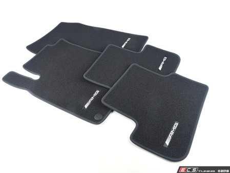 "ES#3445480 - 17668067019A84 - Carpeted Floor Mat Set - Black - Features ""AMG"" stitching - Genuine Mercedes Benz - Mercedes Benz"