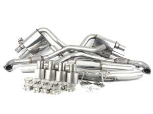 "ES#3466842 - SSXAU696 - Cat-Back Exhaust System - Resonated With Exhaust Valves - 2.50"" stainless steel with quad GT100 titanium tips - Milltek Sport - Audi"