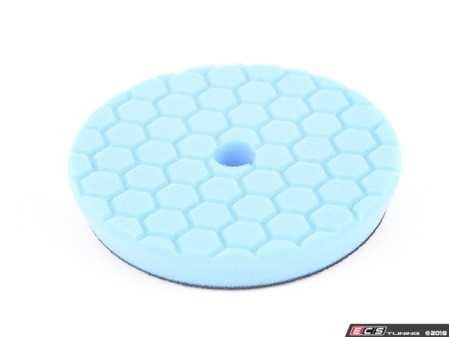 ES#3450469 - BUFX115HEX6 -  Hex-Logic Quantum Polishing/Finishing Pad, Blue (6.5 Inch) - Quantum Physics design maximizes surface contact, reduces and disperses heat, and reduces wear and tear on machine and pad - Chemical Guys - Audi BMW Volkswagen Mercedes Benz MINI Porsche