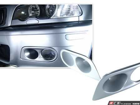 ES#3603508 - PFLME46Z - Paint Matched Fog Light Trim - Color matched pre-painted trim for the air intake ducts of your ZHP. - Bimmian PaintWerke - BMW