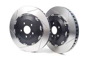 ES#3603693 - 9943LR - 2-Piece Full-Floating Front Brake Rotors - Pair (370mm) - Direct bolt-on replacement - Significant unsprung weight savings offers numerous benefits! - Neuspeed - Audi