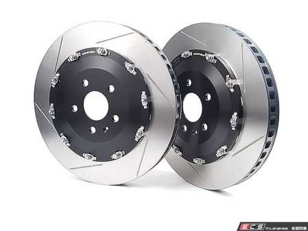 ES#3576176 - 9943LR  - 2-Piece Full-Floating Front Brake Rotors - Pair (370mm) - Direct bolt-on replacement - Significant unsprung weight savings offers numerous benefits! - Neuspeed - Audi
