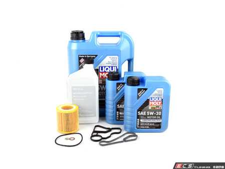 ES#3575854 - 11428637820KT - Oil Cooler Housing Gasket Kit  - Includes both oil filter housing gaskets and a Liqui Moly oil change kit - Assembled By ECS - BMW