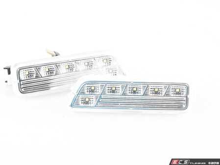 ES#3220934 - 341-1404P3A-VC - White LED Bumper Side Marker Set - Clear - Clear side markers with white LEDs - Depo - Volkswagen