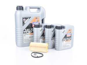 ES#3604017 -  2011KT - Oil Service Kit - Includes 8 liters of Liqui Moly Top Tec 4200, 504.00 / 507.00 / (5w-30), Hengst filter, drain plug with sealing washer, and oil sticker - Assembled By ECS - Audi