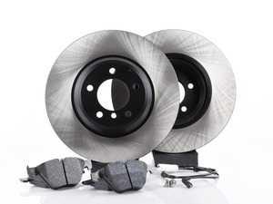 ES#3537297 - 025997ecs075KT1 - Performance Front Brake Service Kit - Featuring ECS V4 blank rotors and Hawk HPS pads - Assembled By ECS - BMW