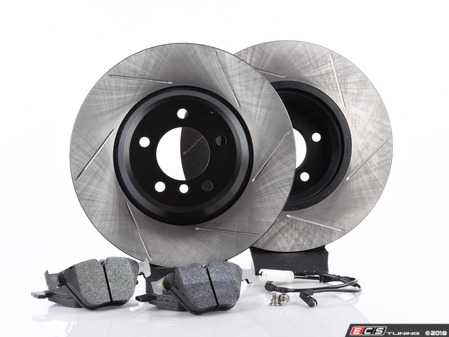 ES#3537299 - 025997ecs075KT3 - Performance Front Brake Service Kit - Featuring ECS V4 slotted rotors and Hawk HPS pads - Assembled By ECS - BMW