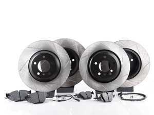 ES#3537343 - 025997ecs075Kt7 - Performance Front & Rear Brake Service Kit - Featuring ECS V4 slotted rotors and Hawk HPS pads - Assembled By ECS - BMW