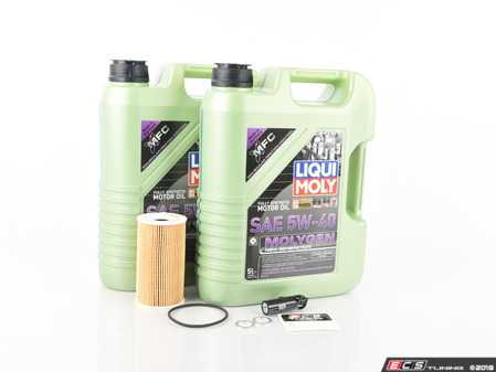 ES#3604134 - 99610722553kt1KT - ECS Oil Service Kit - 5w-40 Liqui Moly Molygen - Everything you will need to complete an oil change on your Porsche Cayenne S or Turbo - Assembled By ECS - Porsche