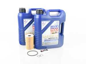 ES#3604167 - 99610722553kt2kt - 2003-2006 Porsche Cayenne S & Turbo Oil Change Kit - 5w-40 Liqui Moly Leichtlauf High Tech - Everything you will need to complete an oil change on your Porsche Cayenne S or Turbo - Assembled By ECS - Porsche