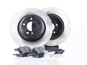ES#3537302 - 025997ecs086KT1 - Performance Rear Brake Service Kit - Featuring ECS V4 blank rotors and Hawk HPS pads - Assembled By ECS - BMW