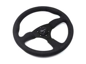 ES#3603860 - 130RDS - 130R Dark Series Steering Wheel - Alcantara Suede - Upgrade your interior styling with a universal, performance styled steering wheel from Renown! Features a 350mm diameter and 50mm depth. - Renown - Audi BMW Volkswagen Mercedes Benz MINI Porsche