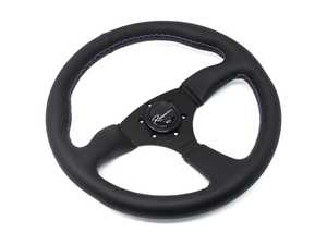 ES#3603861 - 130RML - 130R Motorsport Series Steering Wheel - Genuine Leather w/ Tricolor Stitching - Upgrade your interior styling with a universal, performance styled steering wheel from Renown! Features a 350mm diameter and 50mm depth. - Renown - Audi BMW Volkswagen Mercedes Benz MINI Porsche