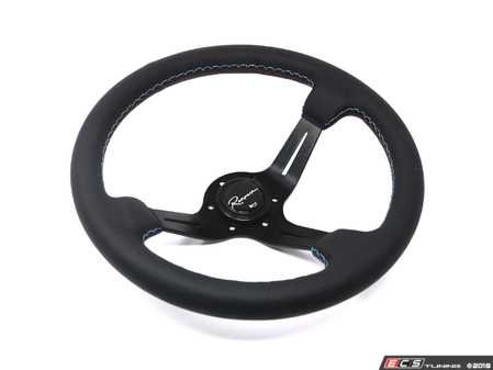 ES#3603871 - ChiML - Chicane Motorsport Series Steering Wheel - Genuine Leather w/ Tricolor Stitching - Upgrade your interior styling with a universal, performance styled steering wheel from Renown! Features a 350mm diameter and a 70mm depth. - Renown - Audi BMW Volkswagen Mercedes Benz MINI Porsche