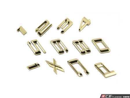 ES#3604461 - BSVEG1 - BMW Gold Shadow Emblems - Custom emblems in gold that refresh the look of your vehicle. - Bimmian PaintWerke - BMW