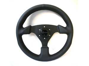 ES#3603879 - CSDL - Clubsport Dark Series Steering Wheel - Genuine Leather - Upgrade your interior styling with a universal, performance styled steering wheel from Renown! Features a 330mm diameter and a 30mm depth. - Renown - Audi BMW Volkswagen Mercedes Benz MINI Porsche