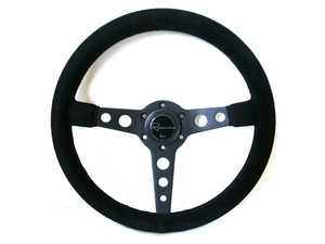 ES#3603886 - MonDS - Monaco Dark Series Steering Wheel - Alcantara Suede - Upgrade your interior styling with a universal, performance styled steering wheel from Renown! Features a 350mm diameter and a 20mm depth. - Renown - Audi BMW Volkswagen Mercedes Benz MINI Porsche