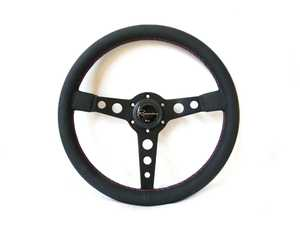 ES#3603888 - MonML - Monaco Motorsport Series Steering Wheel - Genuine Leather - Upgrade your interior styling with a universal, performance styled steering wheel from Renown! Features a 350mm diameter and a 20mm depth. - Renown - Audi BMW Volkswagen Mercedes Benz MINI Porsche