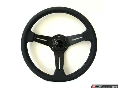 ES#3604414 - Milmp - Mille Motorsport Series Steering Wheel - Genuine Perforated Leather W/ Tricolor Stitching - Upgrade your interior styling with a universal, performance styled steering wheel from Renown! Features a 330mm diameter and 30mm depth. - Renown - Audi BMW Volkswagen Mercedes Benz MINI Porsche