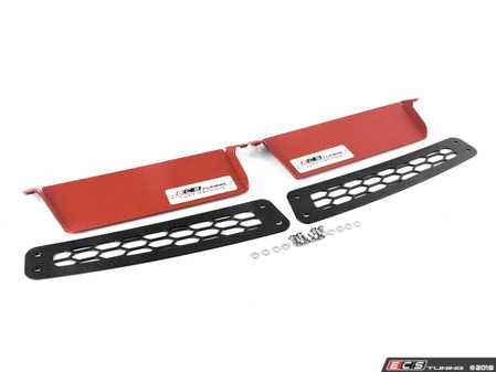 ES#4336173 - 004373LA - MK7 / MK7.5 GTI / Golf R Luft-Technik Air Inlet Scoop Kit - Maximize your engine's potential by directing more air into your intake system! Choose your scoop color and location to suit your build - ECS - Volkswagen