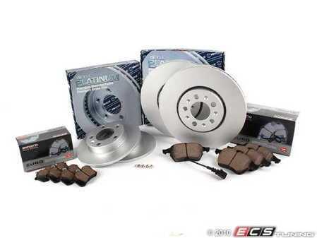 ES#2075207 - 1J0698083 - Front & Rear Brake Service Kit - Complete - Includes Meyle Rotors & Akebono Euro Ceramic Brake Pads - Assembled By ECS -
