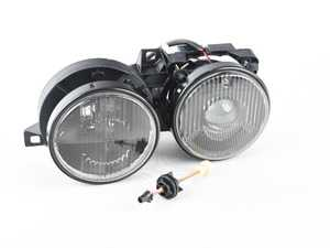 ES#3604684 - HLB3e30Echsmsd -  Euro Smiley Smoked Crosshair Projector Headlight Left Side ONLY! *Scratch And Dent* - Add a little euro style to you lights - Depo - BMW
