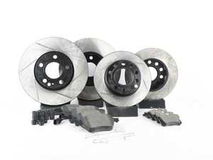 ES#3223815 - 934.33012 - Street Performance Axle Pack Service Kit - Slotted - Front & Rear  - Featuring Stoptech Slotted rotors and Stoptech Street pads - StopTech - Audi