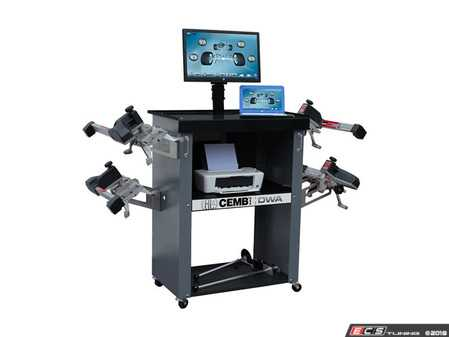 "ES#3604380 - DWA1000XL -  Complete Wheel Alignment System - Includes laptop computer with 24"" monitor, color printer, and storage cabinet - CEMB USA - Audi BMW Volkswagen Mercedes Benz MINI Porsche"