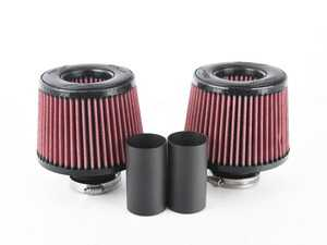 ES#3603607 - BMS-N54-DCI-R - Performance Dual Cone Intake - Red - Replace your restrictive air box with these dual high flow cone filters for the highest possible air flow! - Burger Motorsports - BMW
