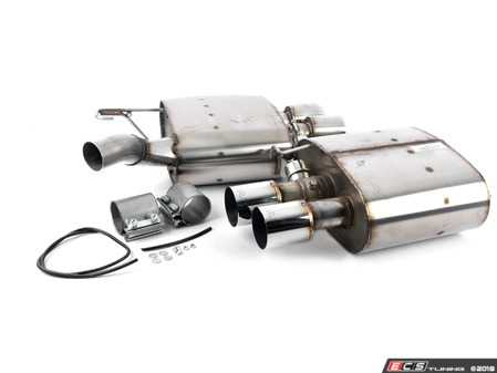 ES#3610256 - D660-0040sd2 - Stainless Axle-Back Exhaust - Polished Tips *Scratch And Dent* - Civilized performance for the discerning enthusiast - +23HP/+15TQ - Dinan - BMW