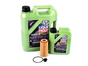 ES#3604040 - 06k1155622KT - Oil Service Kit - Includes 6 liters of LiquidMoly Molygen New Generation Engine Oil (5w-40), filter, drain plug with o-ring, and oil sticker - Assembled By ECS - Audi