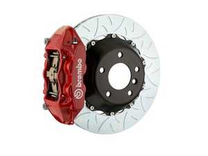 ES#2854860 - 2P3.9014A2 - Brembo GT Rear Big Brake Kit - 2 Piece Type 3 Rotors (380x28) - Featuring Red 4 piston calipers, stainless brake lines and Brembo Sport brake pads - Brembo - Audi